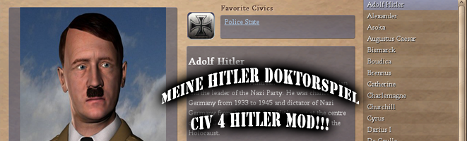 Civilization 4 Hitler Mod Nazi Germany