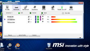 Edimax Wireless LAN Uitlity Screenshot