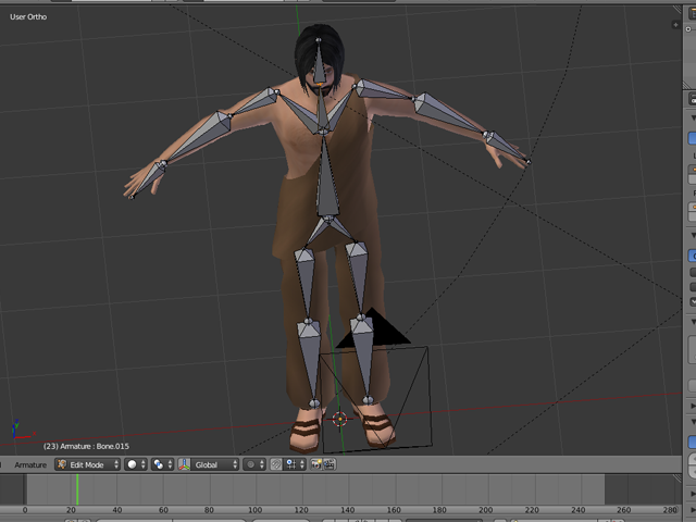 Blender Character Modeling And Rigging : How to rig a character in blender and export into unity