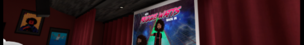 Screen capture of Reggie Watts, live on Altspace
