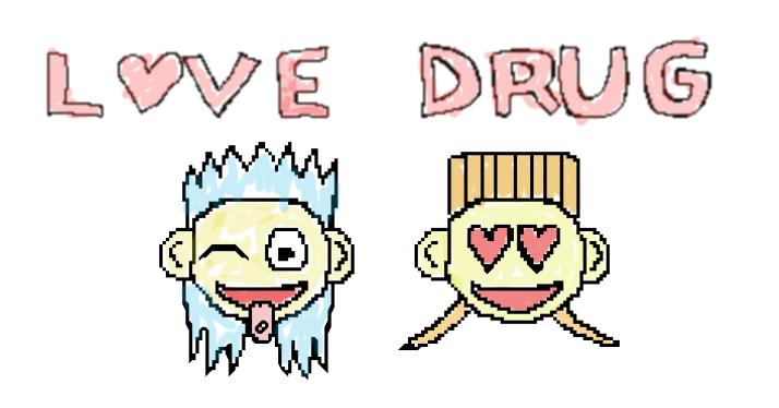 love drug truetype font